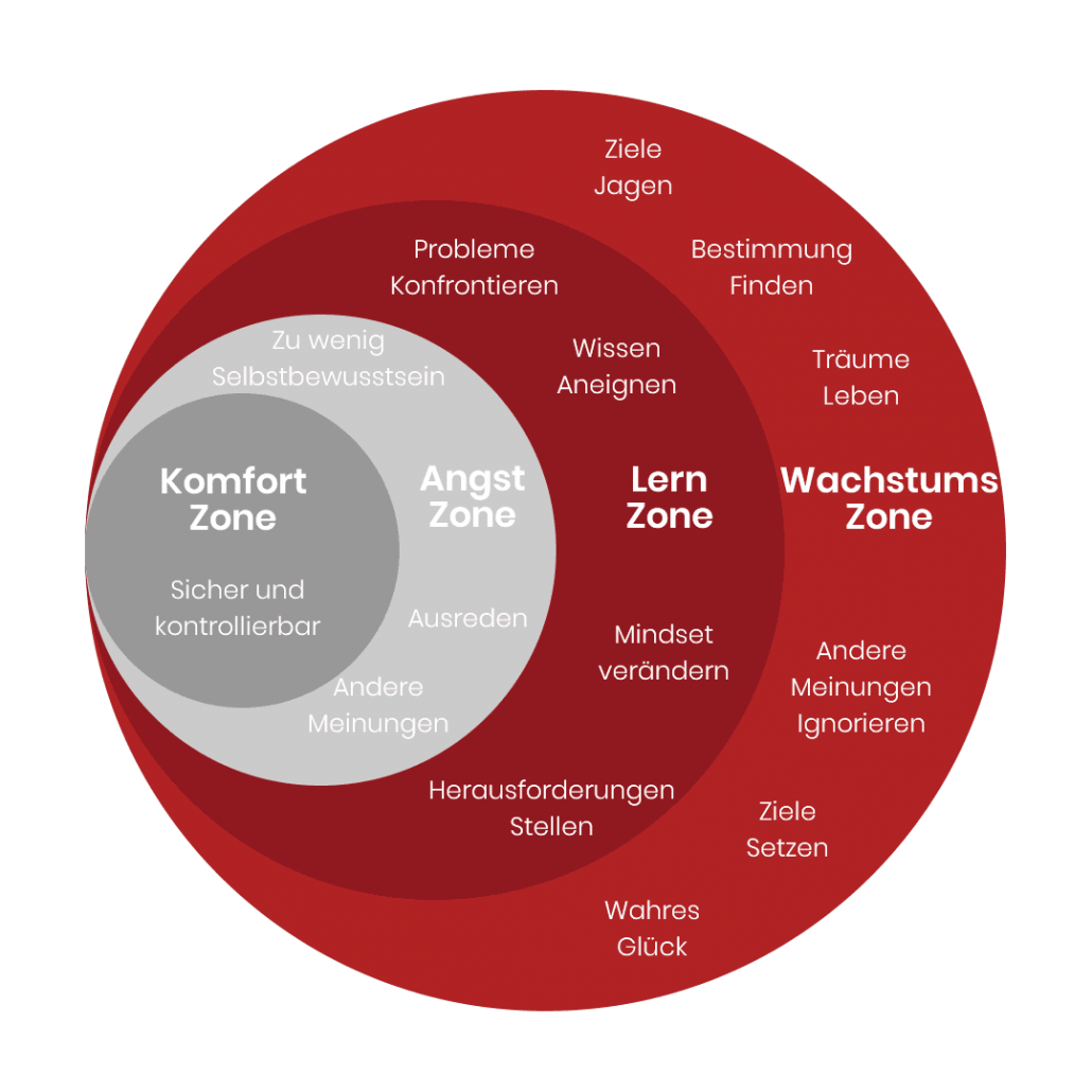 Komfortzone Phasen